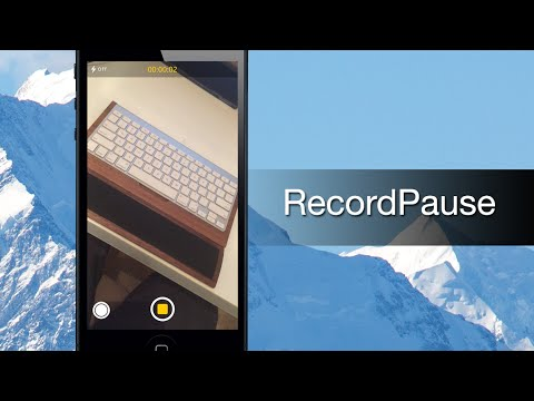RecordPause lets you pause and resume video recordings with Camera