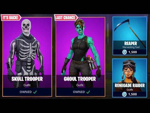 THE SKULL TROOPER OFFICIAL RETURN DATE! - Fortnite Battle Royale Skull Trooper Skin in Season 6