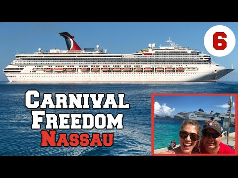 Carnival Freedom Cruise Vlog 6 | Nassau, Bahamas | Colonial Hilton Beach | Halloween Party