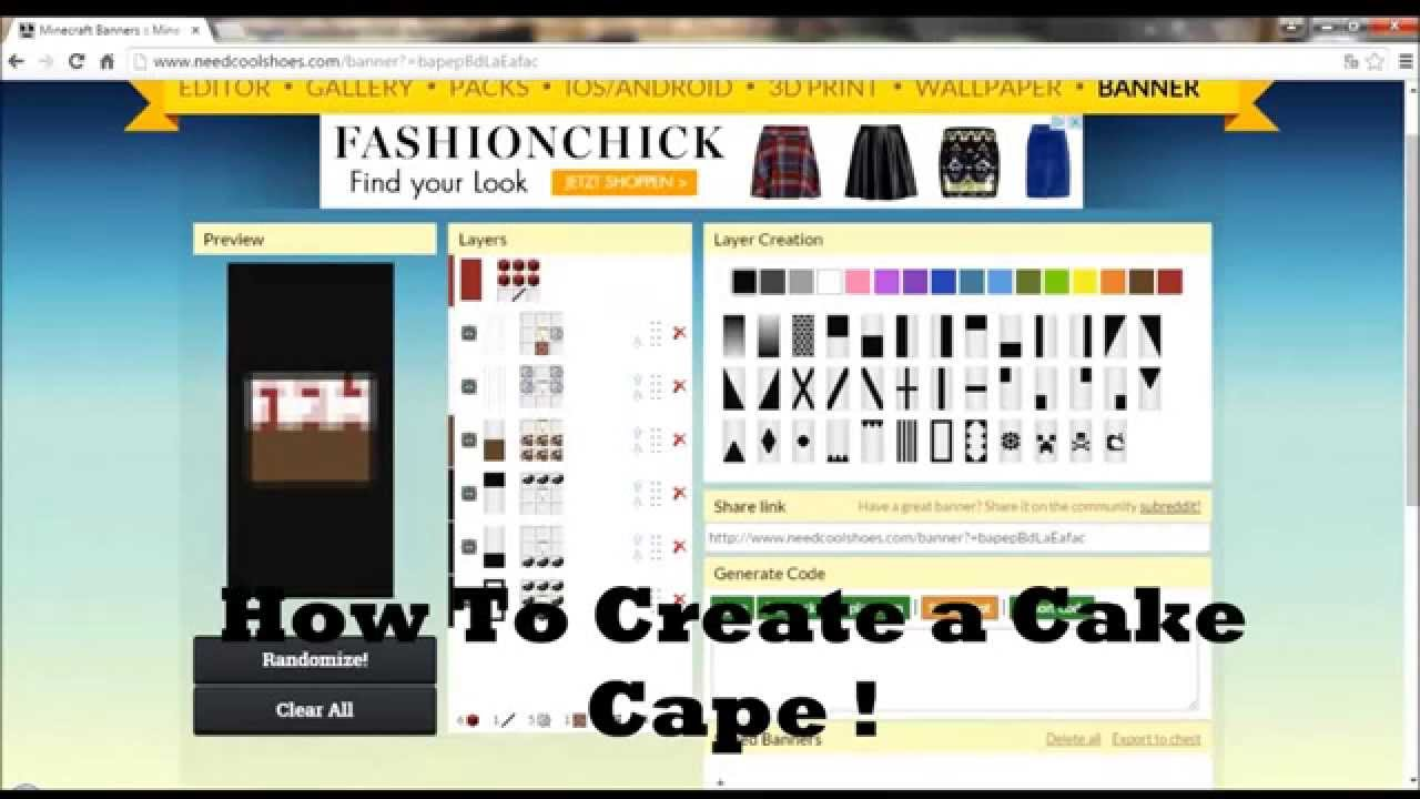 Minecraft How To Make Cake Banner