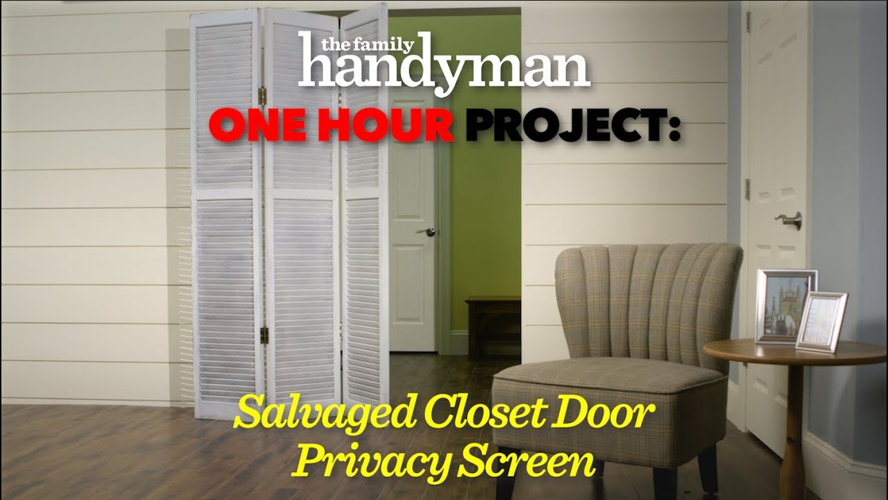 Superieur One Hour Project: Salvaged Closet Door Privacy Screen