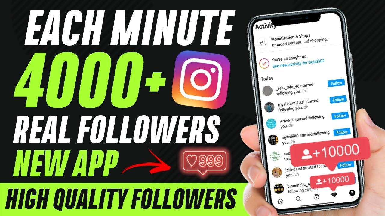 HOW TO GET FREE INSTAGRAM FOLLOWERS | EVERY SUBMIT 4000+ REAL FOLLOWERS (HQ and REAL) 🔥NEW APP🔥