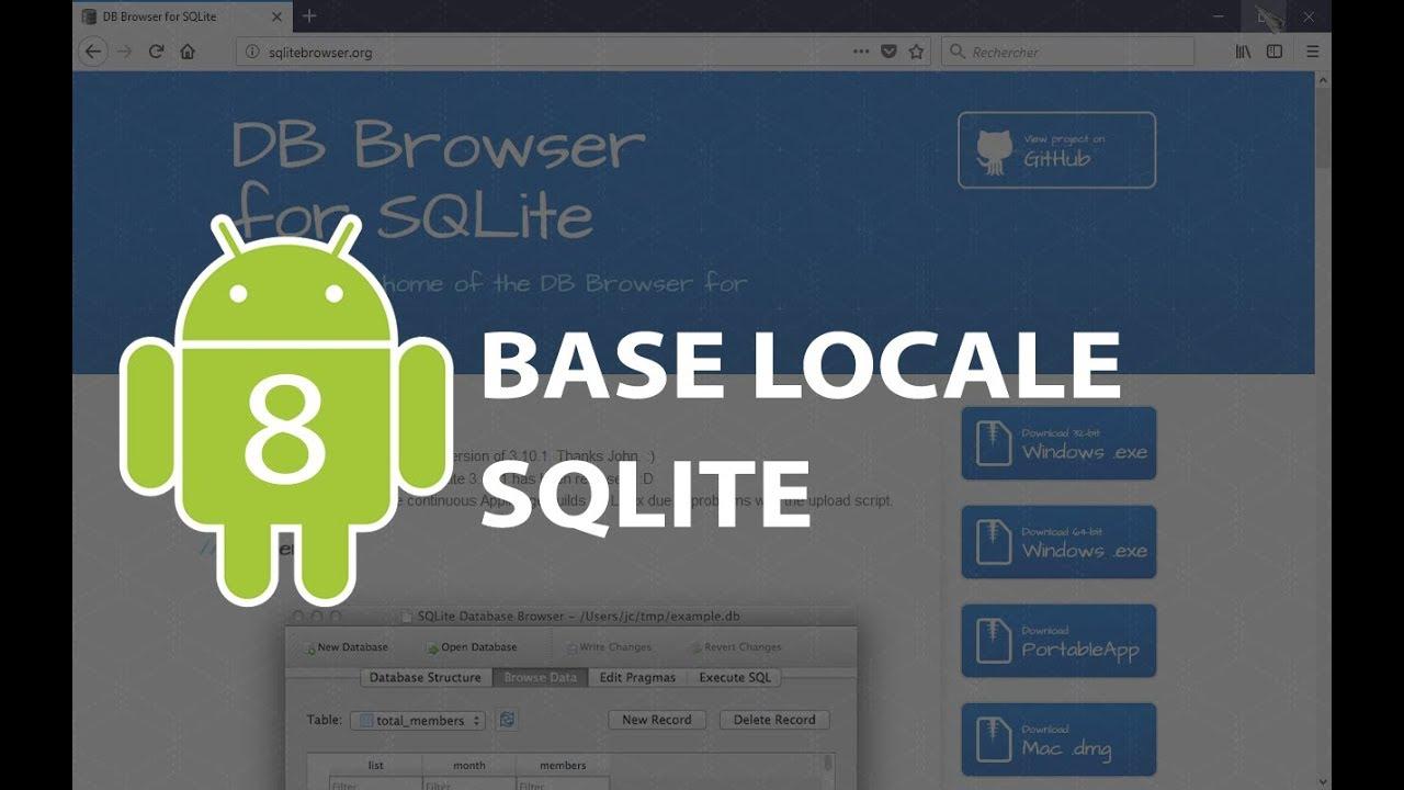 TP Android n°8 : base de données locale SQLite