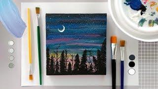 Como pintar em tela: Pintura fácil em tela com tinta acrílica - DIY | como fazer
