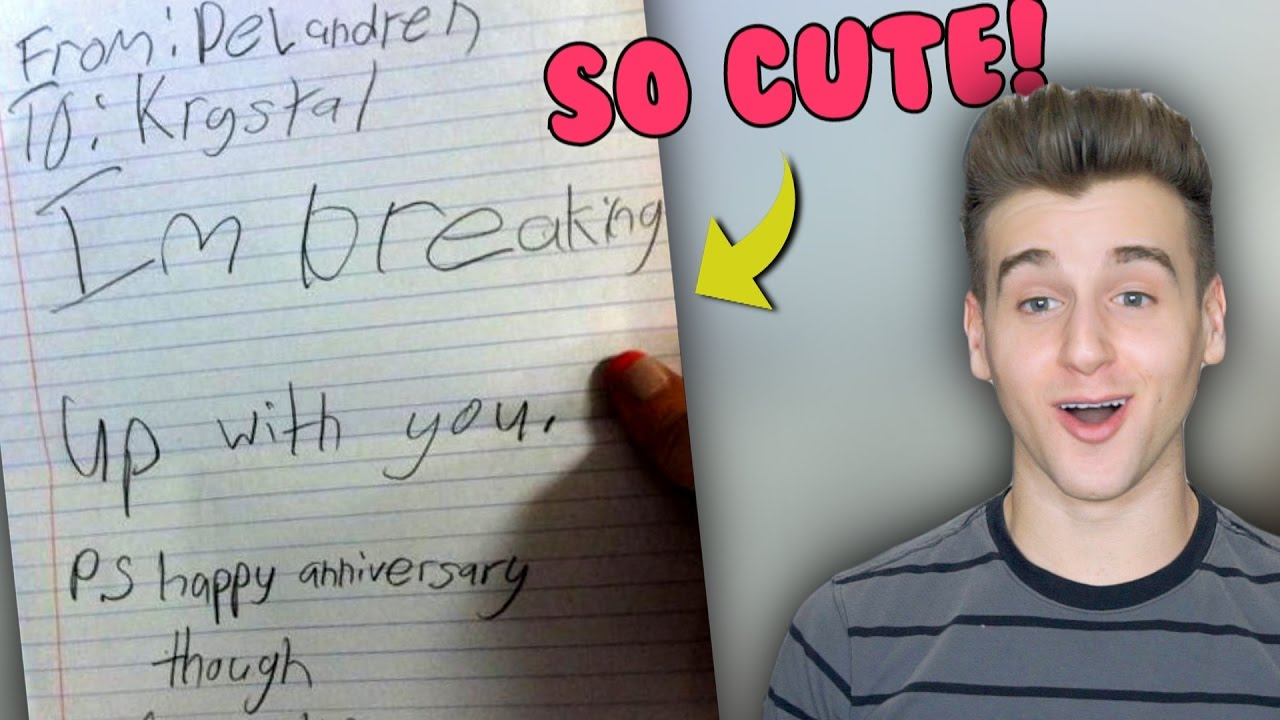 funniest and cutest kid break up notes youtube
