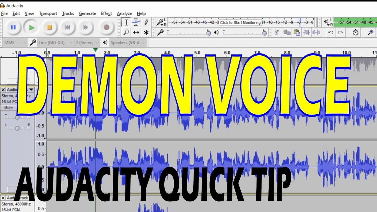 Demonic Voice - Audacity Quick Tip: 8 Steps