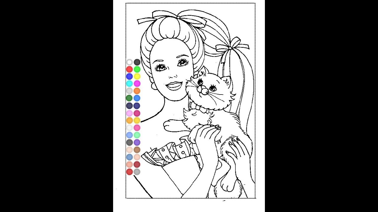 free barbie coloring pages for girls barbie online coloring