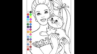 Free Barbie Coloring Pages For Girls - Barbie Online Coloring