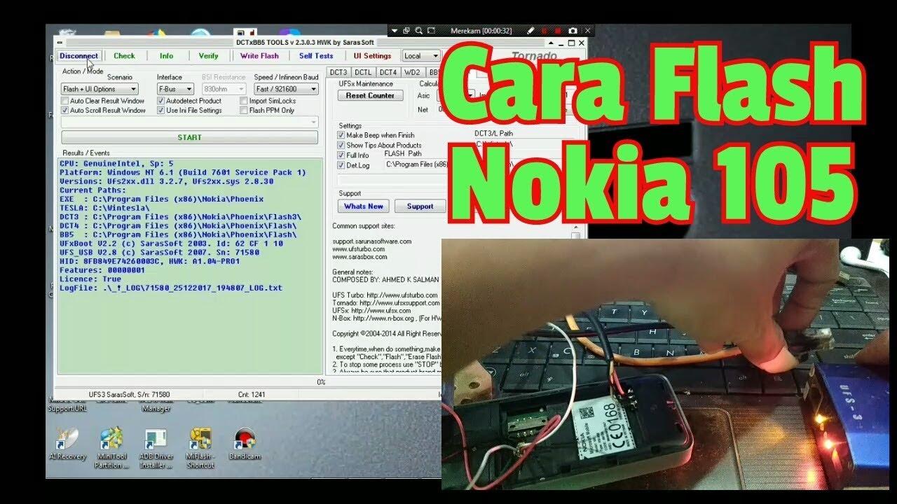 Cara Flash Nokia 105 Rm 908 Youtube