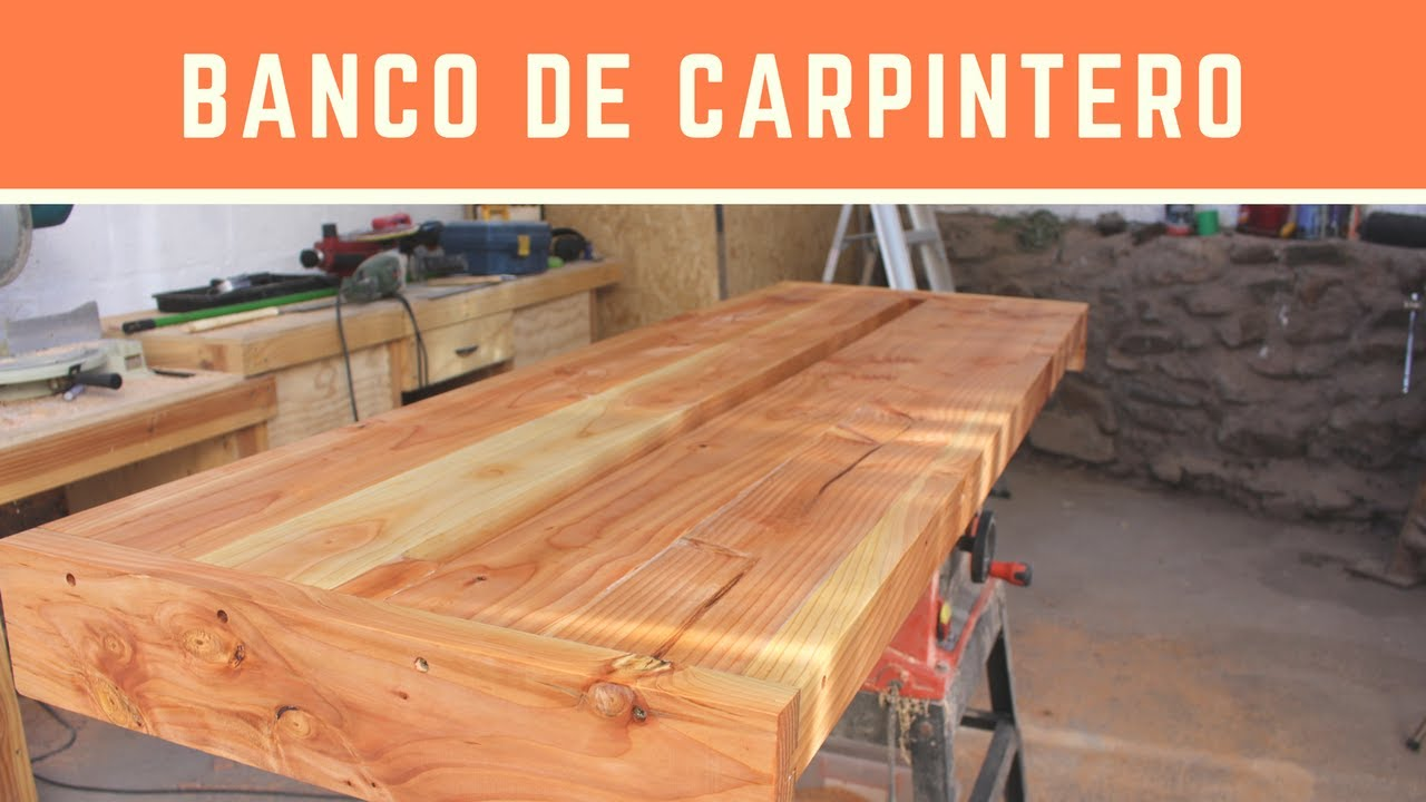 Banco de carpintero parte 1 la tapa youtube for Mesa de carpintero
