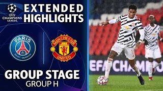 Paris Saint-Germain vs. Manchester United: Extended Highlights | UCL on CBS