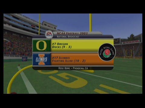 NCAA Football 2003:  Season Game 13: #17 Illinois vs #7 Oregon