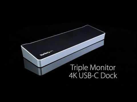 Triple 4K USB-C Laptop Docking Station | StarTech com Canada