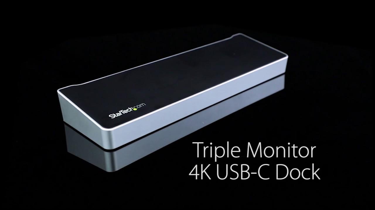 Triple 4K USB-C Laptop Docking Station | StarTech com United Kingdom