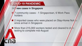 COVID-19 update, July 14: Singapore reports 347 new cases