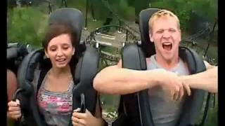 Epic Funny Roller Coaster Videos - Fall Out, Freak Out, Scream, Cry, Puke