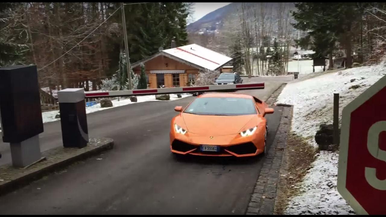 画像: Lamborghini Huracán Limbo Schranke youtu.be