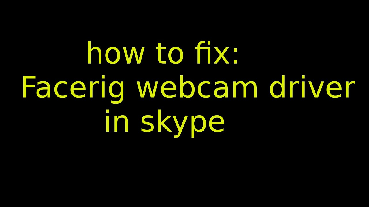 how to use facerig on skype