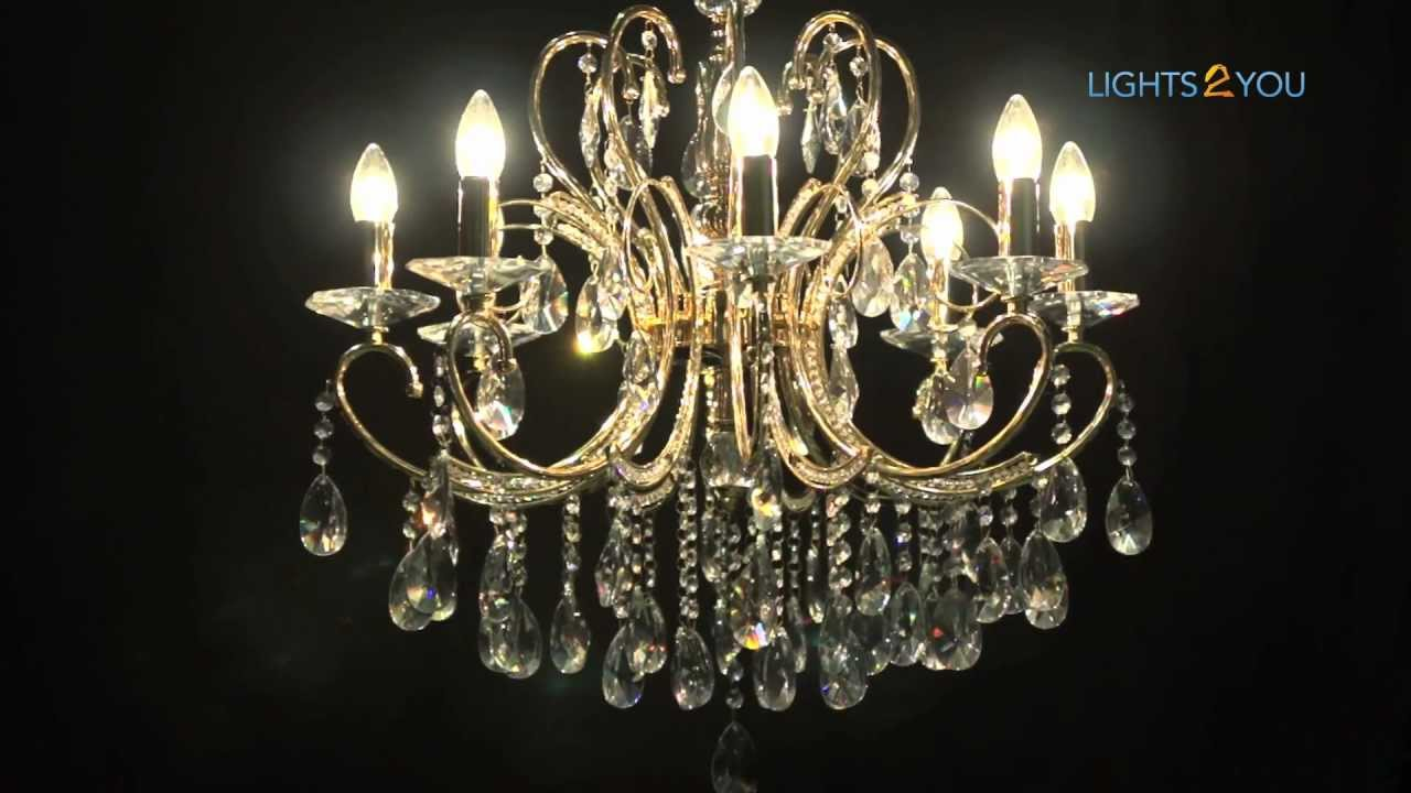 2013 Gold Asfour Crystal Chandelier - YouTube
