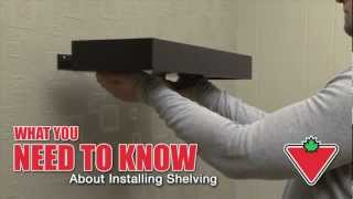 How To Install Shelving From Canadian Tire