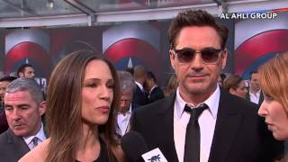 Chris Evans and Robert Downey Jr. Talk Team Cap and Team Iron Man
