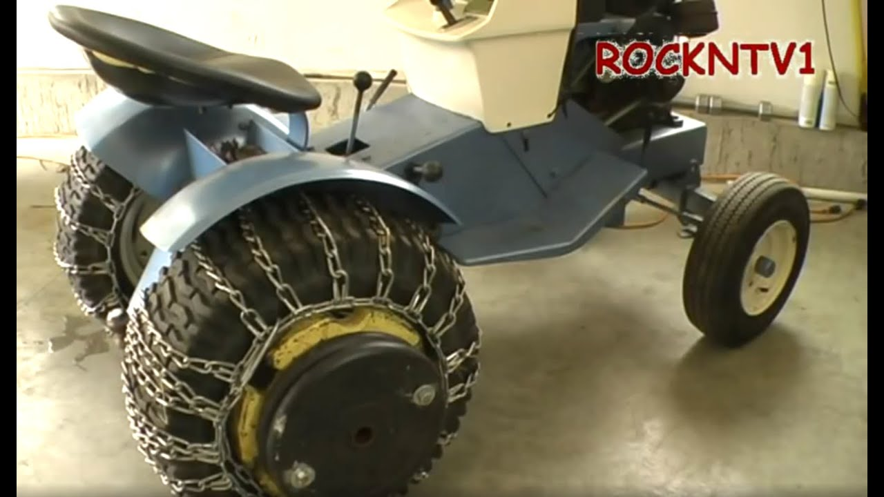 Wheel Weights Tire Chains Garden Tractor Ballast Youtube