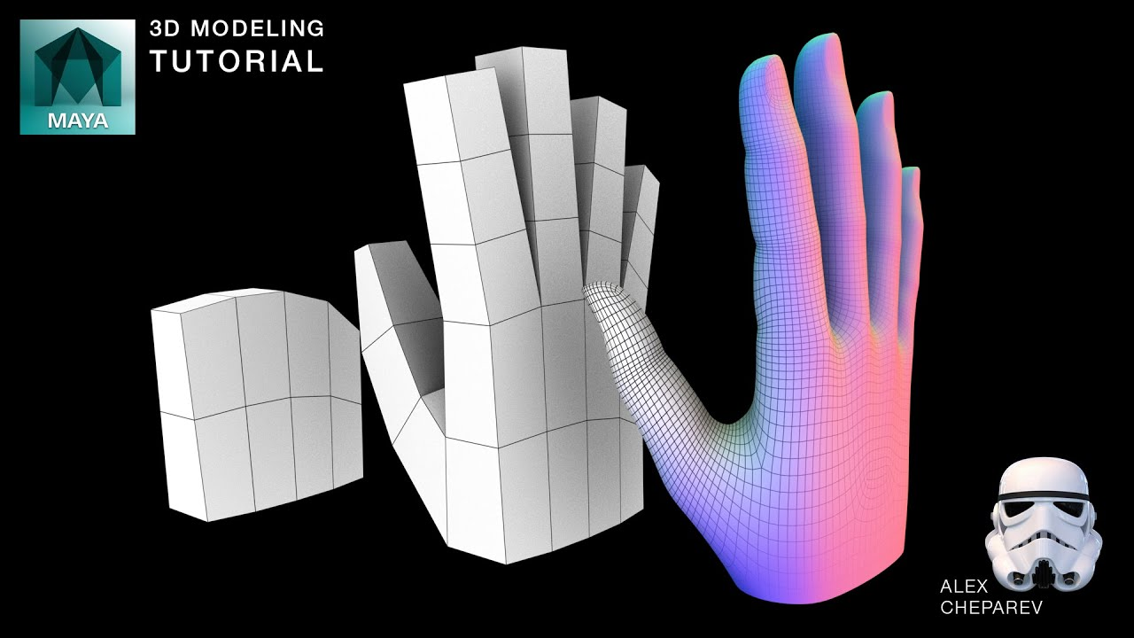 Easy Hand Modeling Tutorial In Maya Youtube