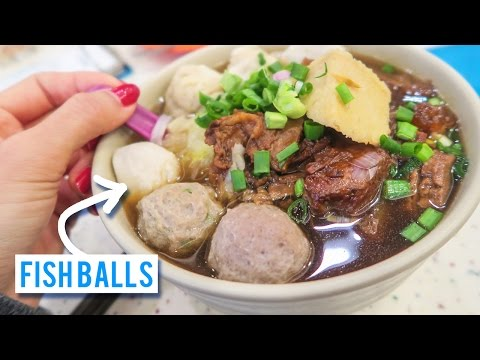 Fish Ball Noodle Soup in Hong Kong