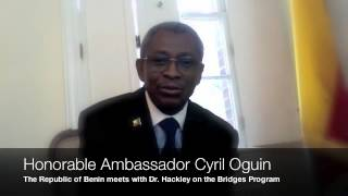 Dr Hackley & Ambassador Oguin From Benin