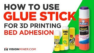 How To Use GĮue Stick for 3D Printer Bed Adhesion