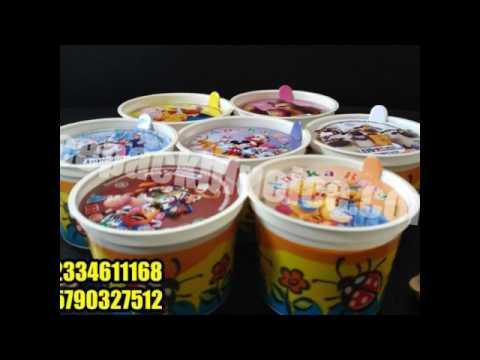 Paper Cup Es Krim 50 Ml Youtube