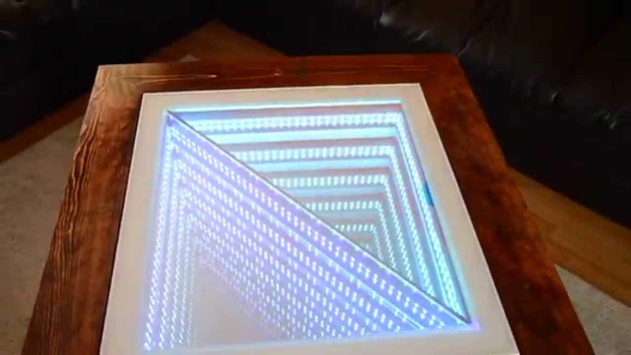 Infinity Coffee Table Square Coffee Table With Triangle 3d Infinity Effect Youtube