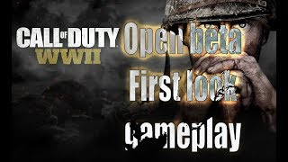 COD: WW2 beta gameplay first look - ALL MAPS and WEAPONS