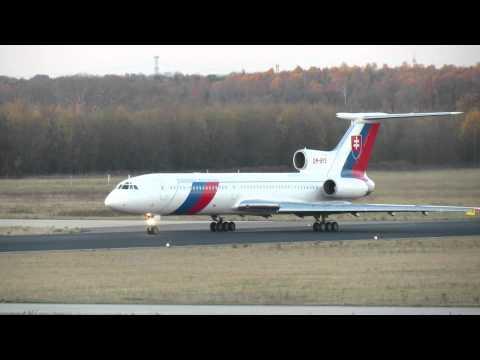 Tu-154, OM-BYO, Slovenska Republika, Departure Eindhoven