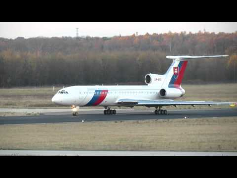 Eindhoven Airport 22-11-2012; Tu-154, OM-BYO, Slovenska Republika, Depature
