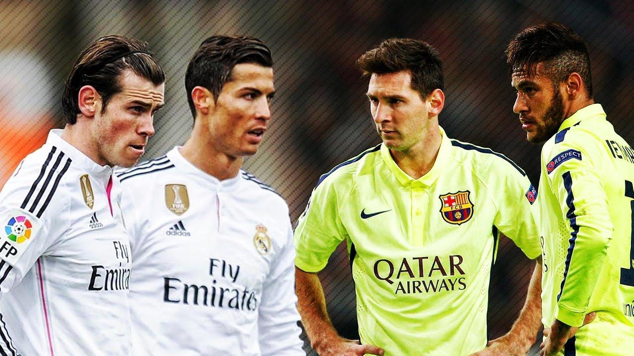 Lionel Messi & Neymar vs Ronaldo & Bale 2015 Skills ...