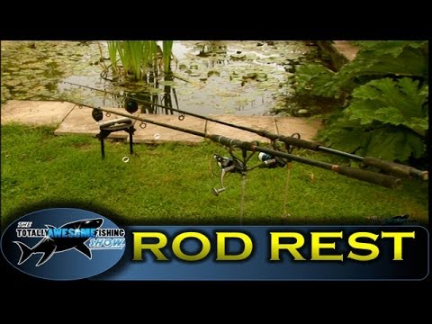 How to make a fishing rod rest, cheap, simple & easy -TAFishing Show