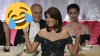 Nikki Haley Jokes At Trump And Herself During Al Smith Fundraising Dinner