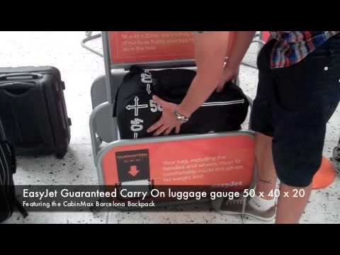 EasyJet Guaranteed Carry on luggage gauge 50 x 40 x 20
