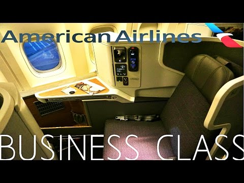 American Airlines BUSINESS CLASS Los Angeles to London|Boeing 777-300ER