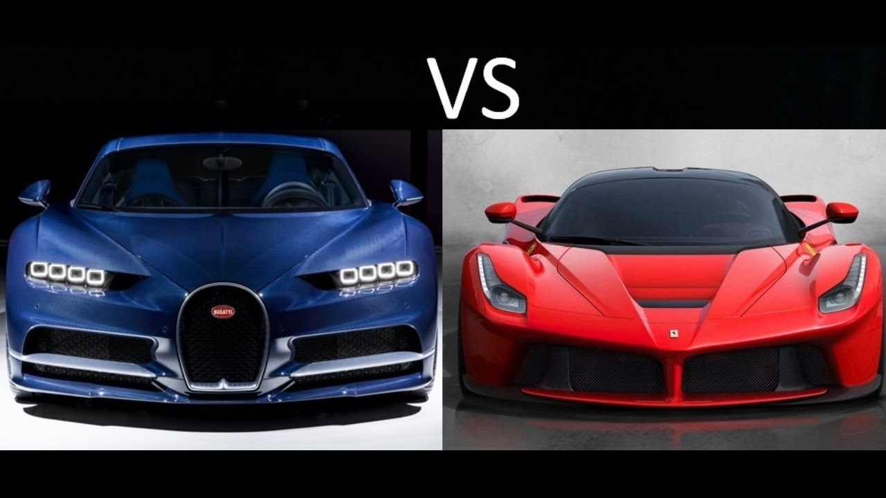 Bugatti Chiron vs Ferrari Laferrari - YouTube