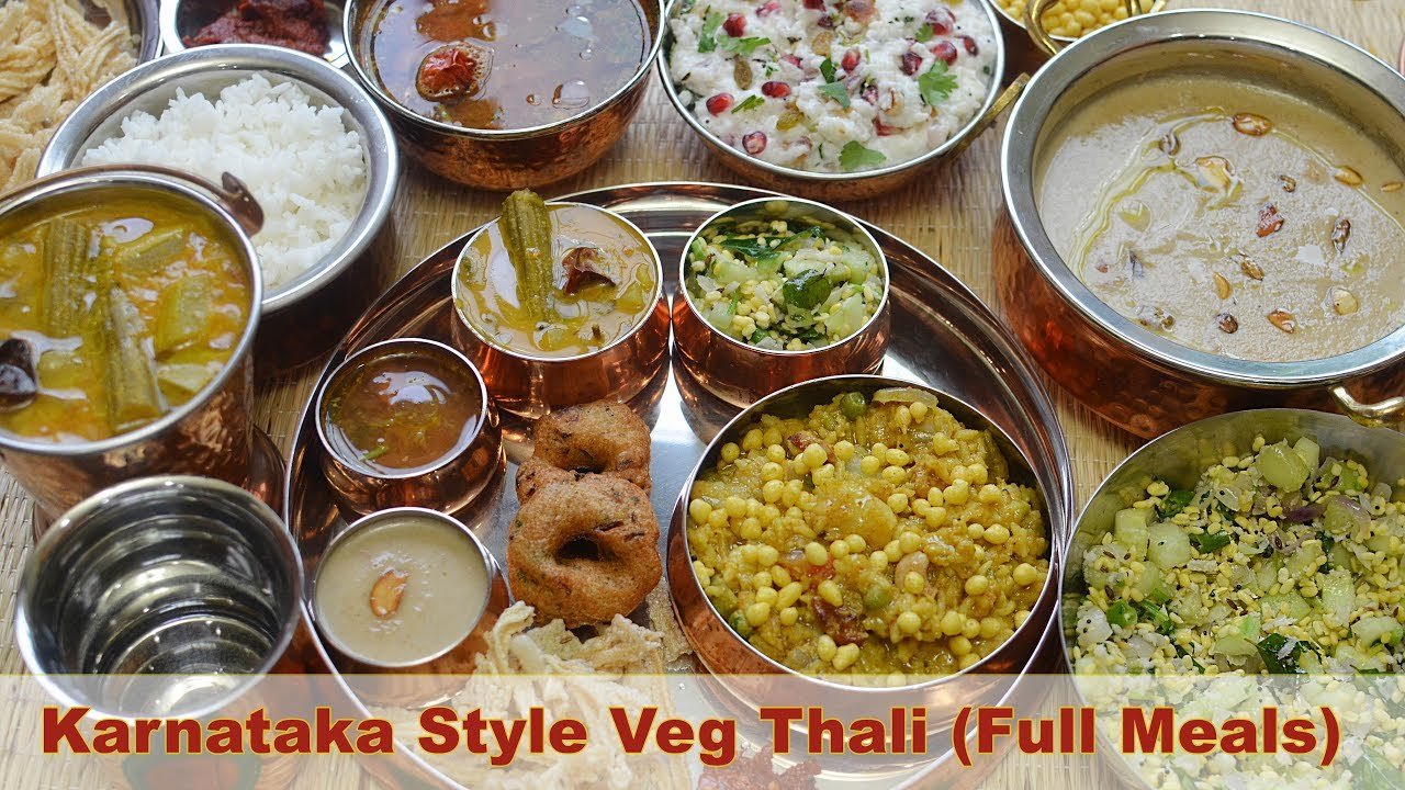 South indian thali recipe veg south indian lunch menu ideas south indian thali recipe veg south indian lunch menu ideas karnataka style thali bon apptit forumfinder Images