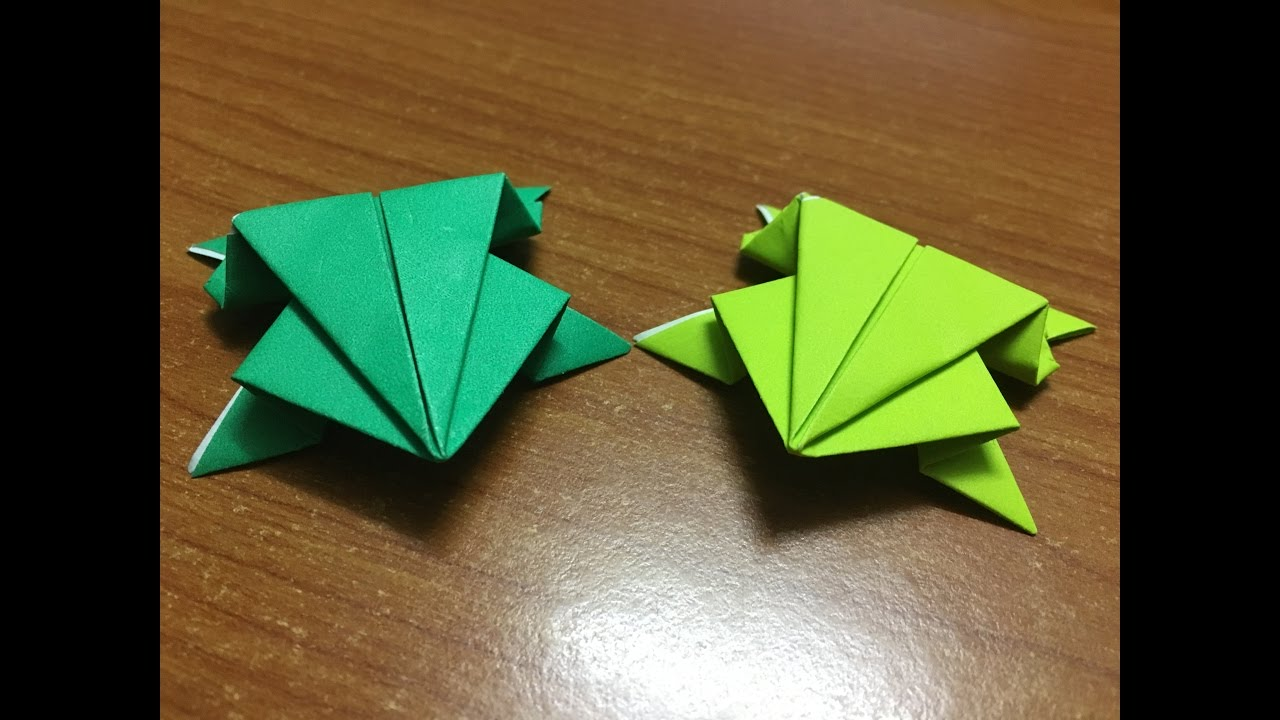 origami frog instructions ~ craft art ideas | 720x1280