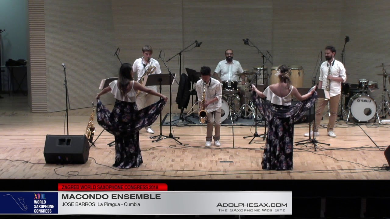 La Piragua by Jose Barros   Macondo Ensemble   XVIII World Sax Congress 2018 #adolphesax
