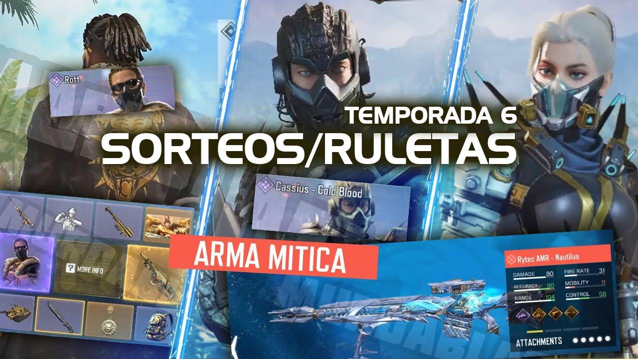 ENTRA YA! SORTEOS, RULETAS Y ARMA MITICA DE LA TEMPORADA 6! | Call of Duty Mobile