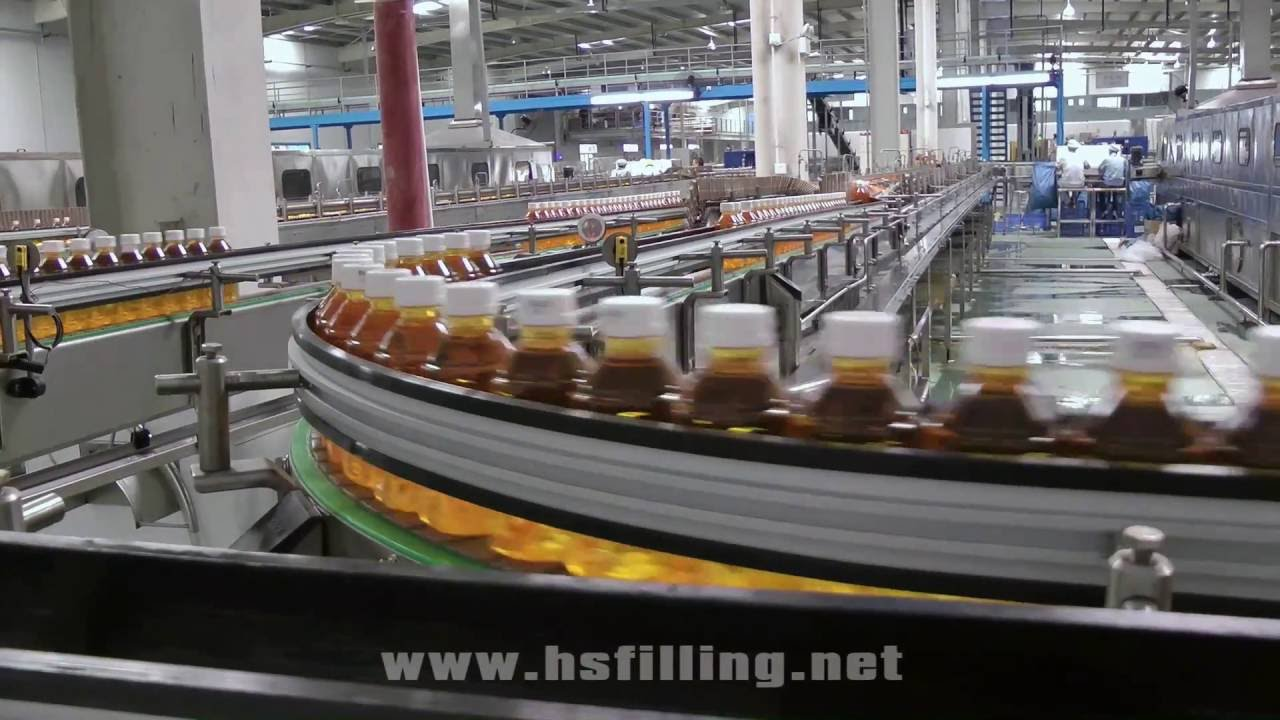 Food And Beverage Factory Conveyor Sytem Youtube