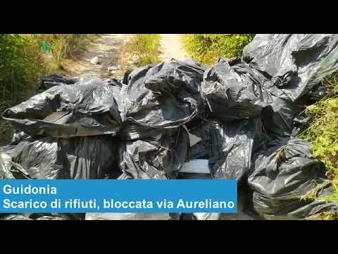 GUIDONIA - Scarico di rifiuti, bloccata via Aureliano