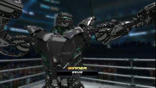 Real Steel World Robot Boxing-Zeus destroys:Metro,Ambush,Noisy Boy,Midas,Twin Cities,Atom