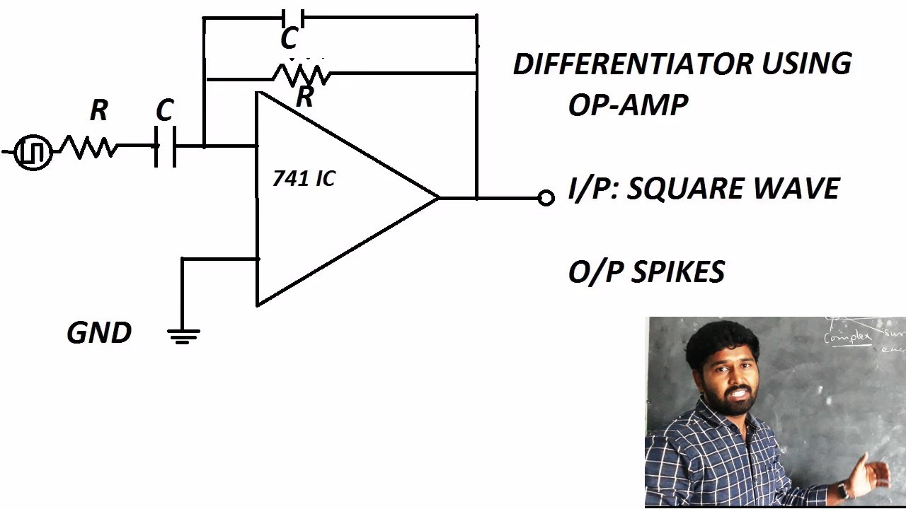 Differentiator Using Op Amp Lab Experiment Electronics Mic Preamplifier Electronicslab Tutorials