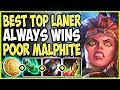 Best Top laner always WINS the game! Poor Malphite! TOP Illaoi vs Malphite Season 9 Ranked Gameplay